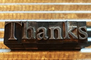 EXPRESSING GRATITUDE, DISCOVERING ARTIFACTS, AND A SHORT STORY